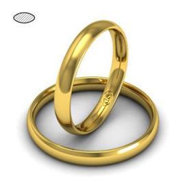 Обручальное кольцо классическое из желтого золота, ширина 3 мм, комфортная посадка, артикул R-W635Y