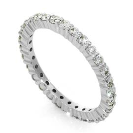 Кольцо с 31 бриллиантом 0,84 ct 4/5 из белого золота 750°, артикул R-QS2056
