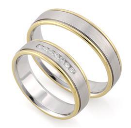 """Парные  обручальные кольца серии """"Twin set"""", артикул R-ТС F1069"""