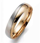 Обручальное кольцо из белого и розового золота 585 пробы, артикул R-55-323-3м