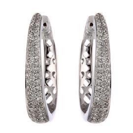 Серьги с 116 бриллиантами 0,38 ct 4/5-6 из белого золота 585°, артикул R-28900252648П