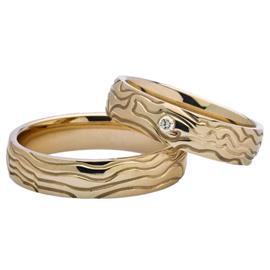 """Обручальные кольца из золота 585 пробы серии """"Twin Set"""", артикул R-ТС 3347"""