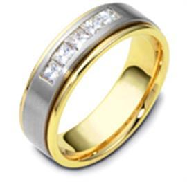 """Обручальное кольцо с бриллиантами из золота 585 пробы с бриллиантами, серия """"Diamond"""", артикул R-1568/001"""