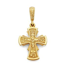 Крест нательный православный  Распятие  Иисуса Христа, артикул R-KRZ0502-1