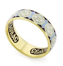 Венчальное кольцо с молитвой к святому Николаю Чудотворцу, артикул R-КЗЭ0803