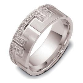"""Обручальное кольцо с бриллиантами серии """"Diamond"""" из золота 585 пробы, артикул R-2103"""