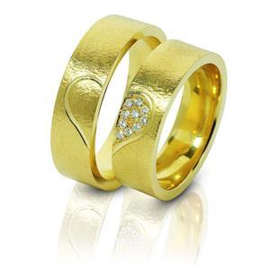 Дизайнерские обручальные кольца парные, арт. R-ТС 3217-1