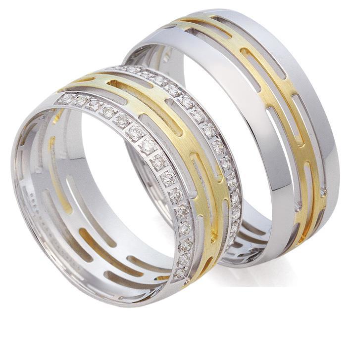 серьги из белого золота кольцами