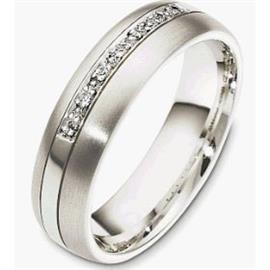 Обручальное кольцо с бриллиантами из золота 585 пробы, артикул R-2828-2