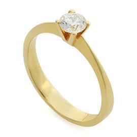 Помолвочное кольцо с 1 бриллиантом 0,35 ct 4/5 желтое золото 585°, артикул R-YZ40354-1