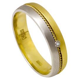"""Обручальное кольцо с бриллиантом из золота 585 пробы, серии """"Diamond"""", артикул R-1843/001"""