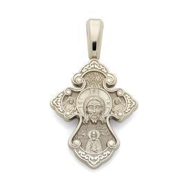 Православный крест Нерукотворный образ Иисуса Христа, святой Спиридон Тримифунтский, артикул R-KRZ0603-2