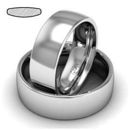 Обручальное кольцо классическое из белого золота, ширина 7 мм, комфортная посадка, артикул R-W475W
