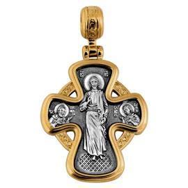 Крест нательный  Господь Вседержитель Икона Божией Матери Неупиваемая Чаша, артикул R-101.060