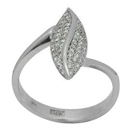 Кольцо c 54 круглыми бриллиантами  0,32 ct 4/5  из белого золота 750°, артикул R-098-760