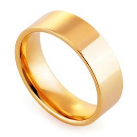 Обручальное кольцо классическое из розового золота, ширина 6 мм, комфортная посадка, артикул R-W1065R