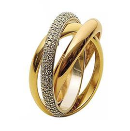 Обручальное кольцо с бриллиантами, артикул R-1575-2