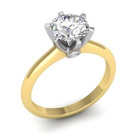 Помолвочные кольца, кольца с 1 бриллиантом