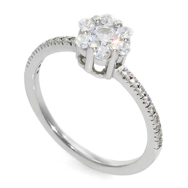 кольцо с пятью бриллиантами