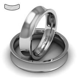 Обручальное кольцо из платины, ширина 5 мм, комфортная посадка, артикул R-W859Pt