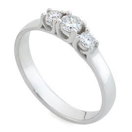 Помолвочное кольцо с 1 бриллиантом 0,15 ct 3/5 и 2 бриллианта 0,16 ct 3/5 белое золото 585°, артикул R-R0048W