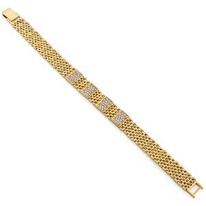 Браслет с 72 бриллиантами 1,49 ct 4/5 из желтого золота 750°, арт. R-БК4019