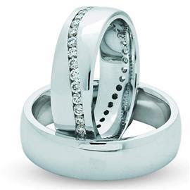 """Обручальные кольца парные из золота 585 пробы с бриллиантами серии """"Twin set"""", артикул R-ТС 3116-2"""