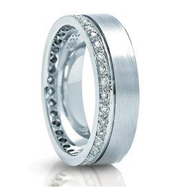 Обручальное кольцо с бриллиантами из золота 585 пробы, артикул R-3266
