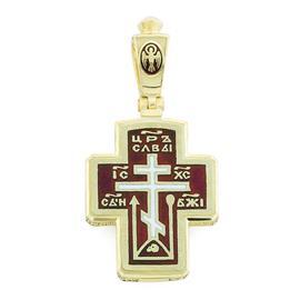 Крест православный с надписями Иисус Христос, Царь Славы, Спаси и сохрани, артикул R-РКб1608-1