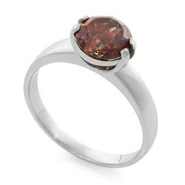 Помолвочное кольцо с 1 коричневым бриллиантом 1,76 ct фантазийного коричневого цвета белое золото 750° сертификат SGC, артикул R-6418
