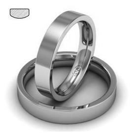 Обручальное кольцо из платины, ширина 4 мм, комфортная посадка, артикул R-W749Pt