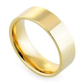 Обручальное кольцо классическое из желтого золота, ширина 6 мм, комфортная посадка, артикул R-W1065Y