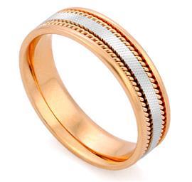 Кольцо обручальное  из золота 585 пробы, артикул R-V1007-3