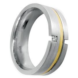Обручальное кольцо с бриллиантом круглой формы из золота 585 пробы, артикул R-6020