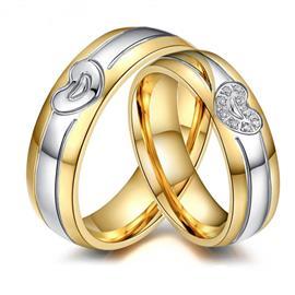 Обручальные кольца парные с бриллиантами из золота 585 пробы, артикул R-ТС AL2318-12