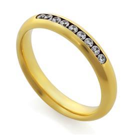 Обручальные кольца с бриллиантами 0,23 ct 4/5 желтое золото 585°, артикул R-A14049-1