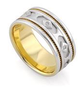 Обручальное кольцо с 7 бриллиантами 0,07 карат, артикул R-3335