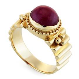 Кольцо с цирконом из желтого золота 585°, артикул R-GT-948-1