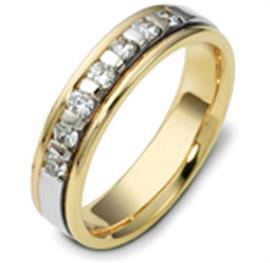 Обручальное кольцо с бриллиантами из золота 585 пробы с бриллиантами, артикул R-1565/001