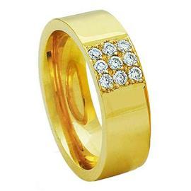 Обручальное кольцо с бриллиантами из золота 585 пробы, артикул R-3294