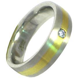 Обручальное кольцо из золота 585 пробы с бриллиантом, артикул R-2017