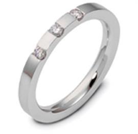 Обручальное кольцо с бриллиантами из белого золота 585 пробы с бриллиантами, артикул R-2190