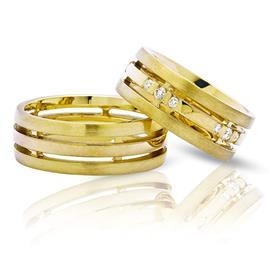 """Обручальные кольца парные из золота 585 пробы серии """"Twin Set"""", артикул R-ТС 3372"""