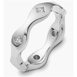 Обручальное кольцо с бриллиантами из золота 585 пробы, артикул R-2198-2