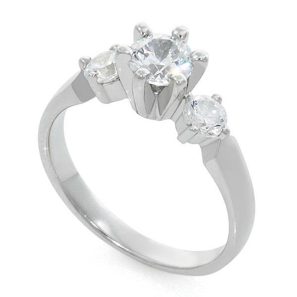 Великолепно выполненное помолвочное кольцо из белого золота 585 пробы с 1 бриллиантом 0,45 карат с характеристикой