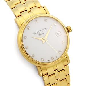 Золотые часы мужские с 11 бриллиантами 0,05 ct 2/2 из желтого золота 750°, арт. R-235.124MY