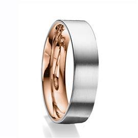 Дизайнерское обручальное кольцо из золота 585 пробы, артикул R-81609-23