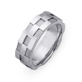 Обручальное кольцо из белого золота 585 пробы, артикул R-СЕ035