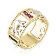 Кольцо из золота 585 пробы с цирконами, артикул R-GT-12 (326055)