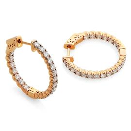 Серьги с 40 бриллиантами 1,76 ct 4/5 из розового золота 750°, артикул R-СА290522-3